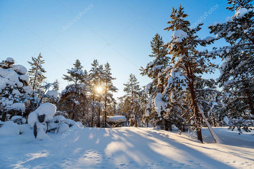 Paisajes Finlandia Invierno Paisaje De Invierno En