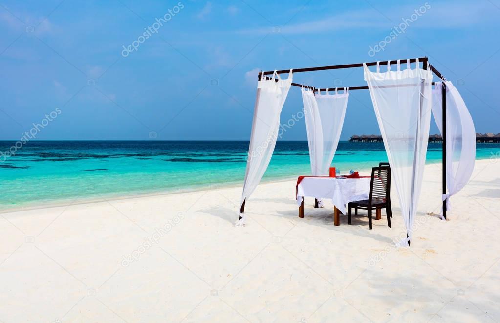 Romantic luxury dinner