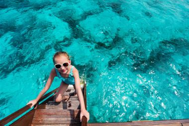 Adorable little girl on vacation