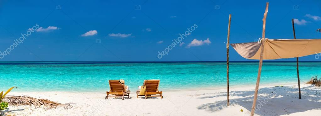 Beautiful tropical beach at Maldives