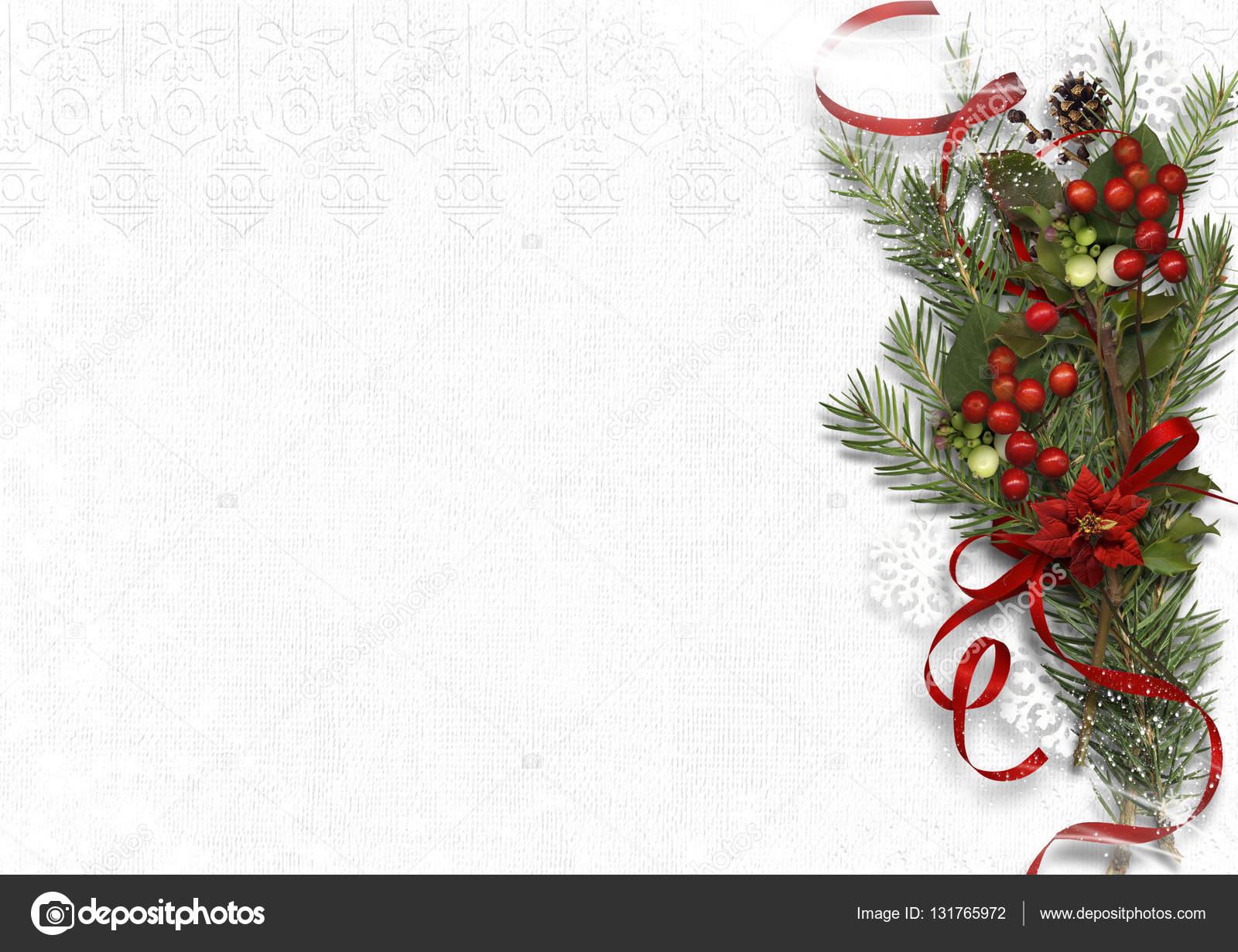 Bouquet De Noel Avec Du Houx christmas bouquet with mistletoe and holly on white