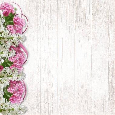 Border of lilac and sakura