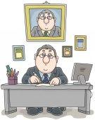 Dokumentumokkal dolgozó üzletember