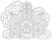 Ornate log cabin