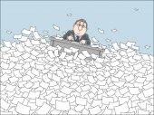 Sea of paper