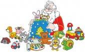 Geschenke von Santa claus