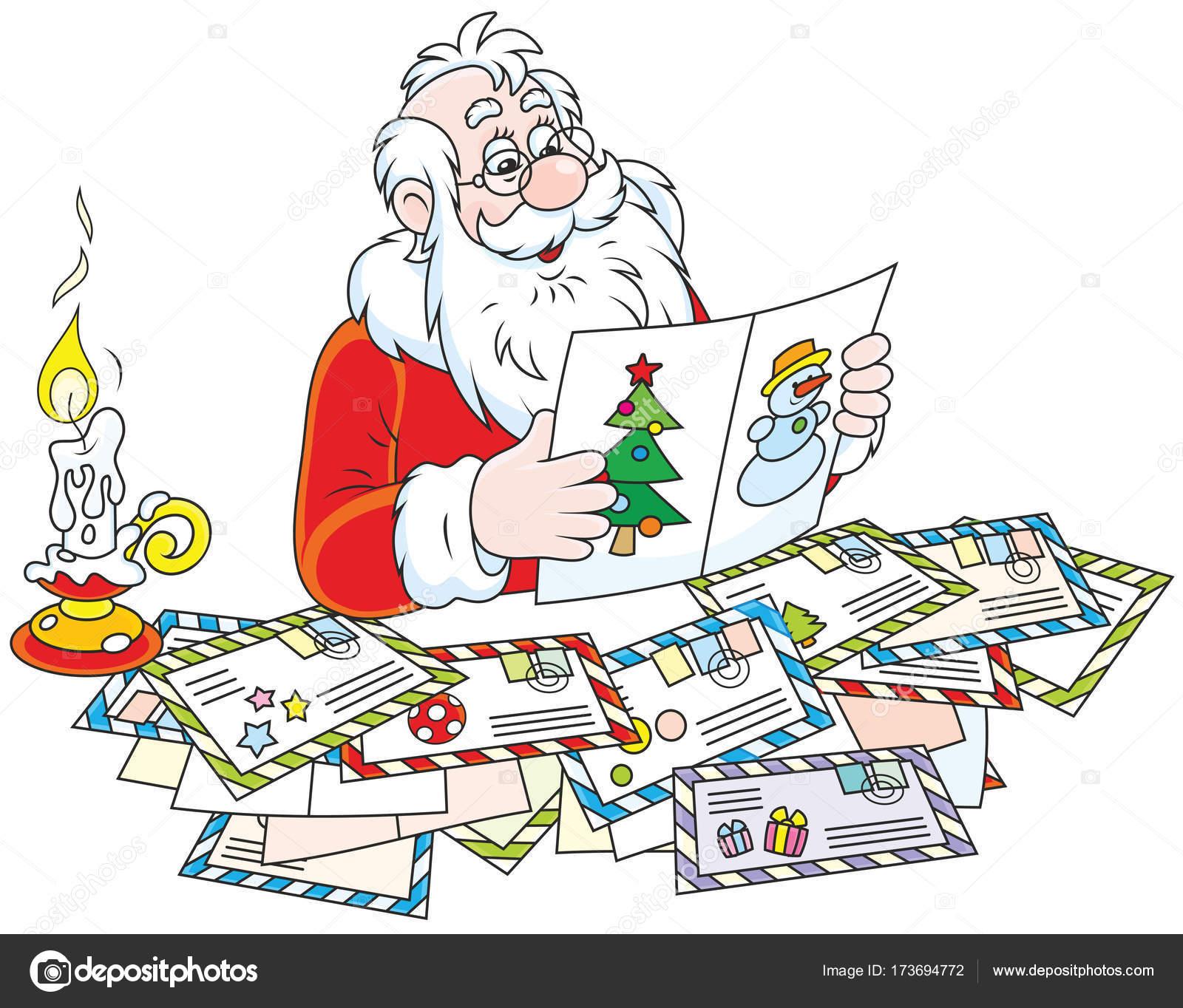 Le Lettere Di Babbo Natale.Lettere Di Babbo Natale Lettura Vettoriali Stock C Alexbannykh