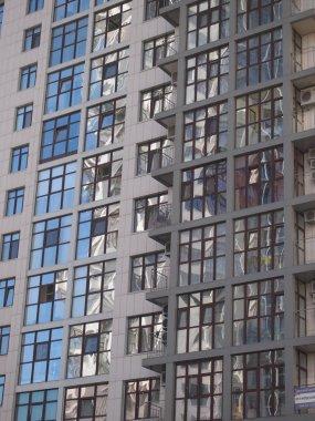 Kiev skyscrapers , construction concept