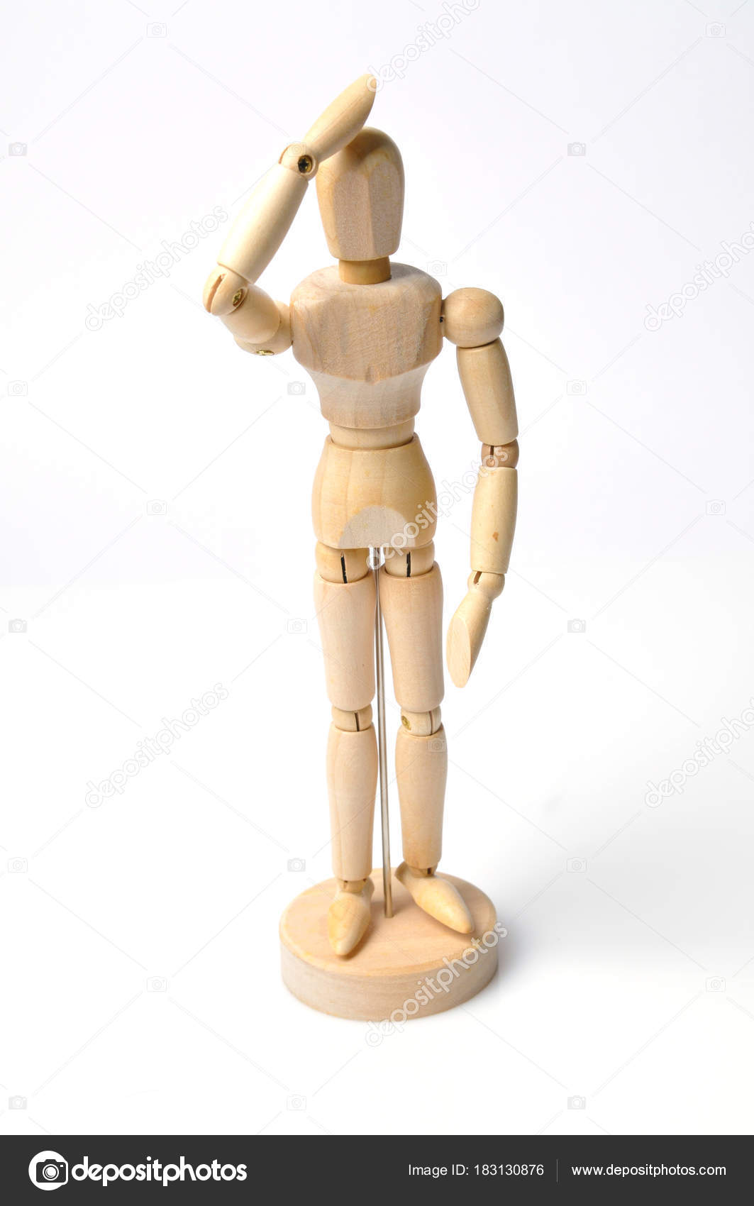 wooden mannequin different emotions different poses stock photo