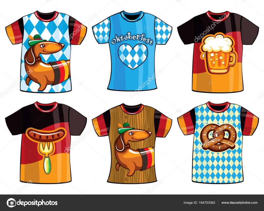 Conjunto de plantillas de Oktoberfest camisetas para hombre y mujer ...