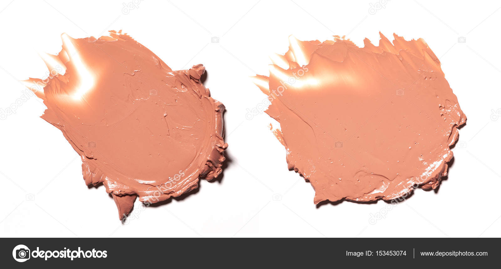 Collection Of Beige Smear Crushed Cosmetic Products On A White Background Photo By Artcasta