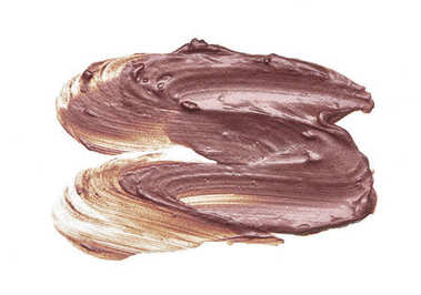 Smear of lip gloss on a white background