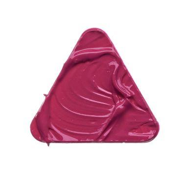 Pink makeup smear of lip gloss