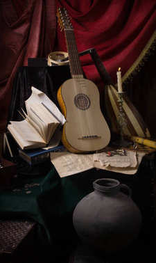 Musical still life in the Renaissance style