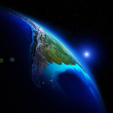 World geography 3d space