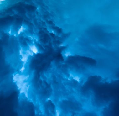 Sky rain, wind and dramatic storm