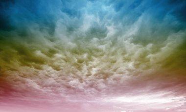 Dramatic rainy sky and dark clouds
