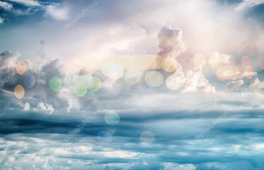 Sky clouds art sunrise background bokeh