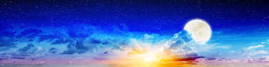 Summer beauty night sky and moon