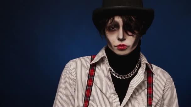 Videos De Maquillaje De Halloween.Chica Con El Maquillaje De Halloween