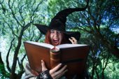 Fotografie Image of witch casting spell