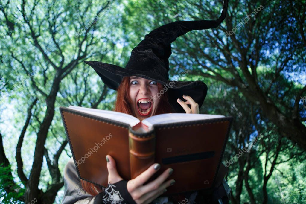 Image of witch casting spell