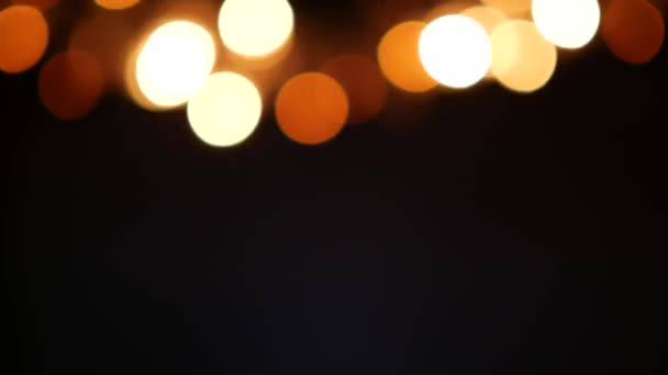 Abstraktní rozmazané vánoční světla Bokeh pozadí. 4 k video