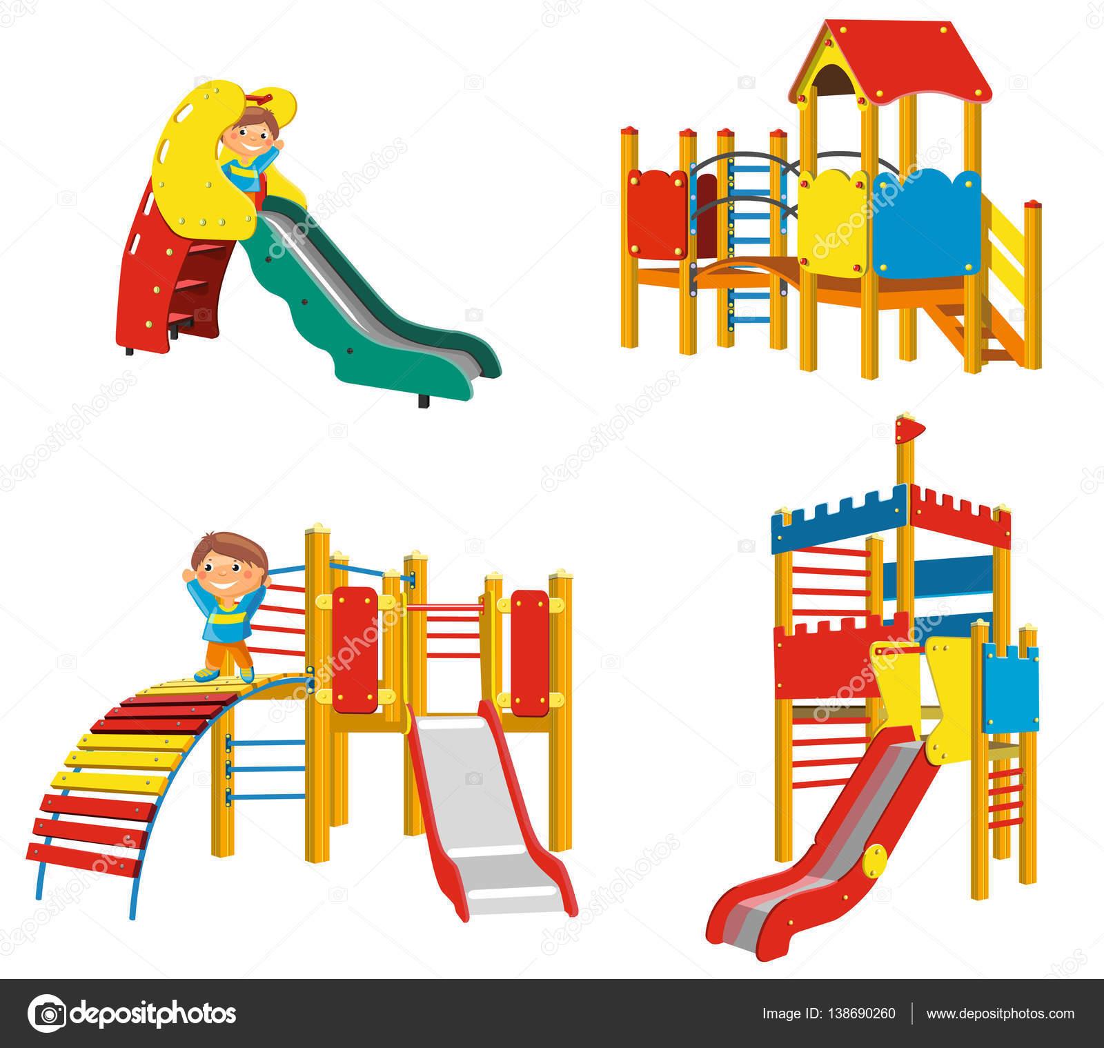 Conjunto De Juegos Infantiles Para Ninos Archivo Imagenes