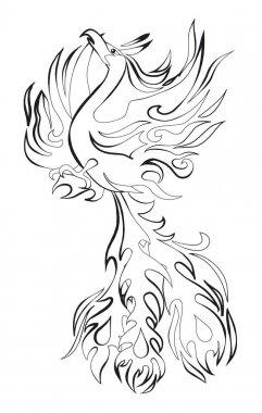 Phoenix bird illustation