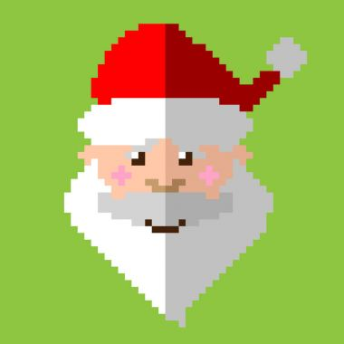 Christmas icon. Santa pixel art