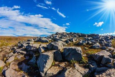 Huge stones lying on plateau
