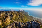 Fotografie view from Table Mountain to Atlantic Ocean