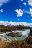 Emerald water of Paine river