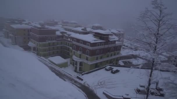 Upper Gorky Gorod - all-season resort town 960 meters above sea level stock footage video