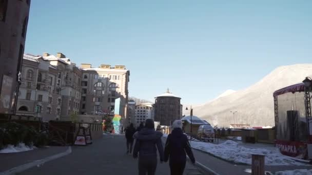 Gorky Gorod - all-season resort town and gaming zone 540 meters above sea level stock footage timelapse video