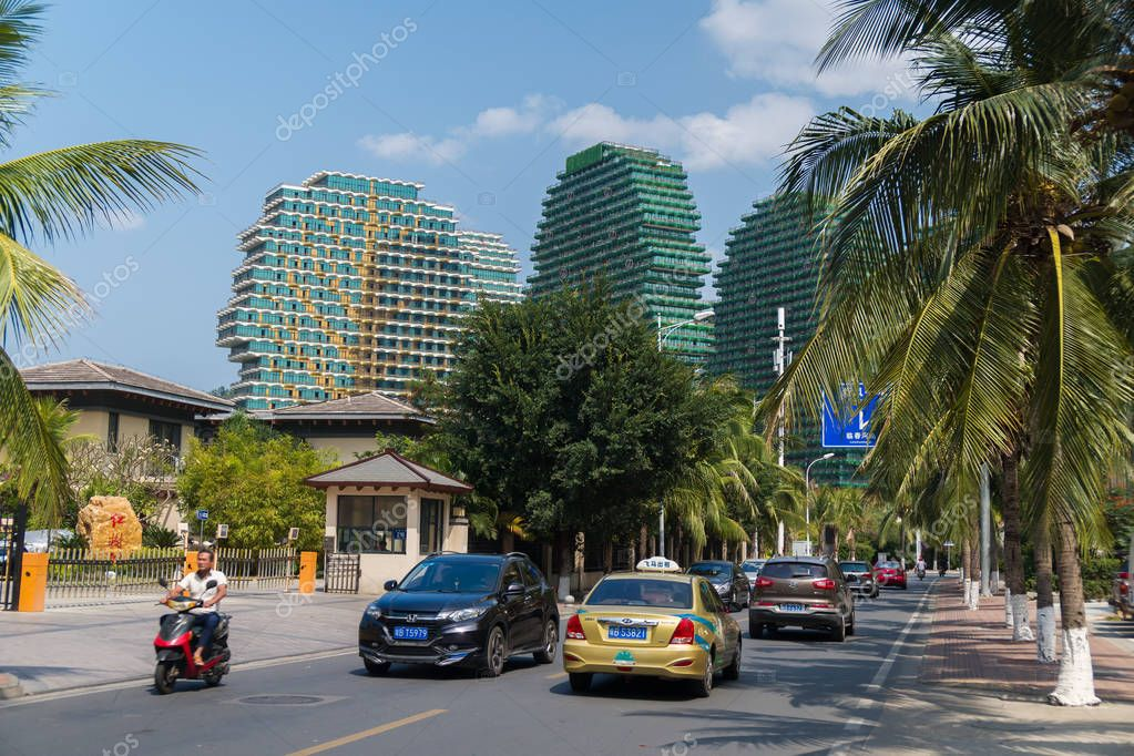 Respectable areas in the tourist city of Sanya