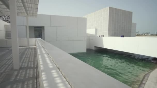 Louvre Abu Dhabi is an art and civilization museum stock footage video