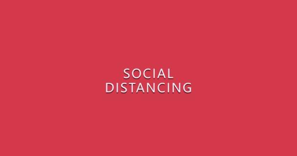 Social distancing coronavirus logo animation