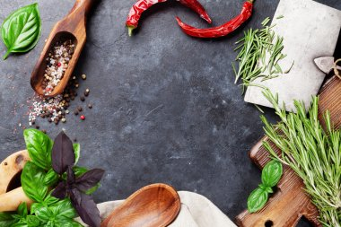 Fresh garden herbs and spices