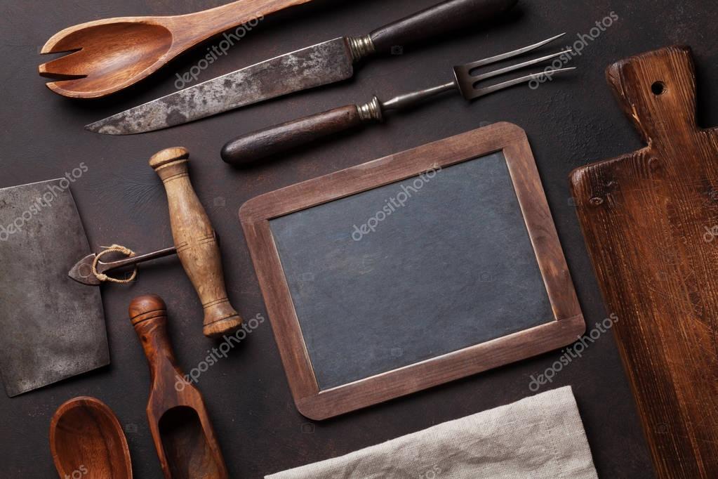 vecchi utensili da cucina — Foto Stock © karandaev #130447966