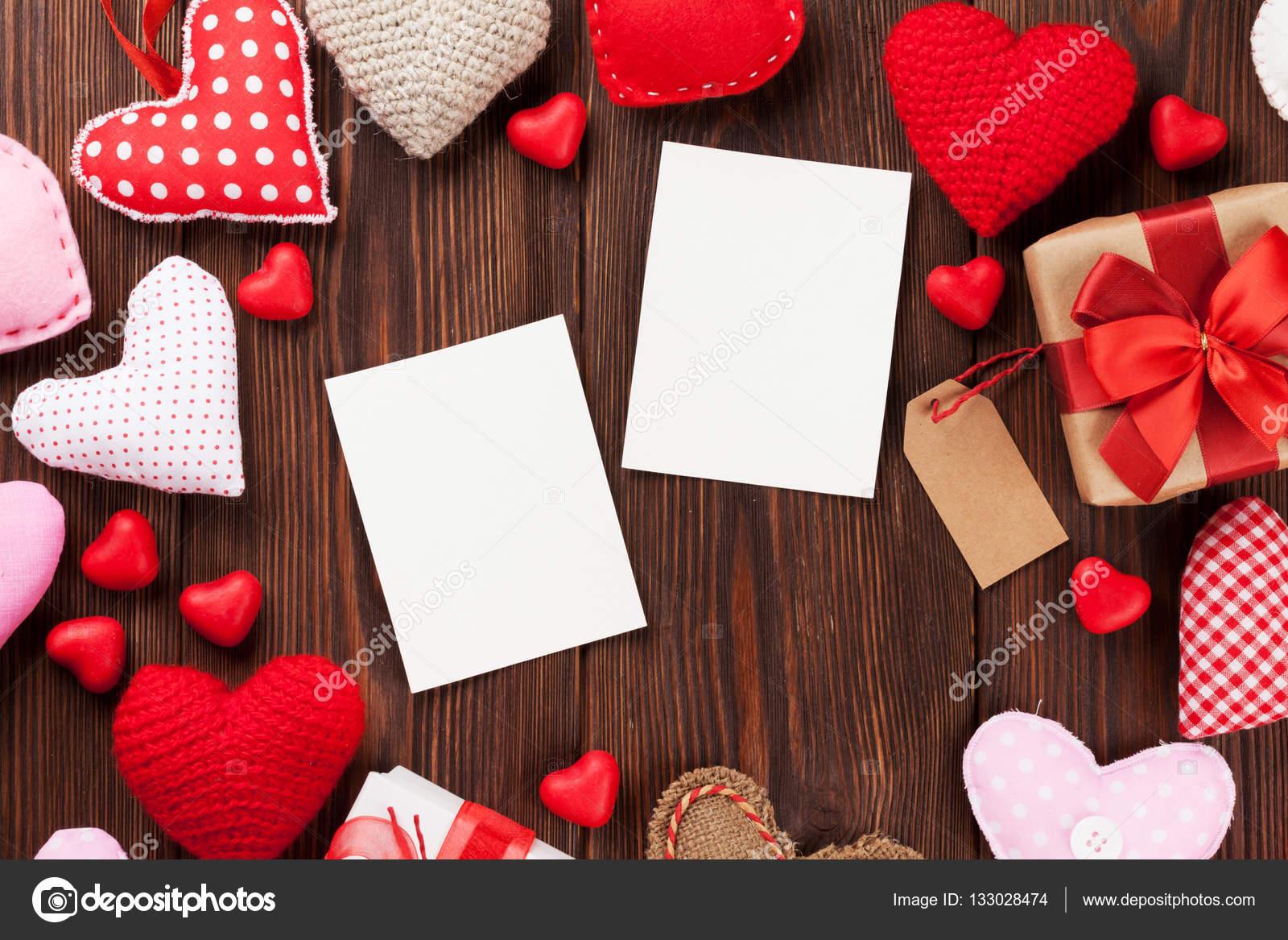 Corazones y día de San Valentín marcos — Foto de stock © karandaev ...