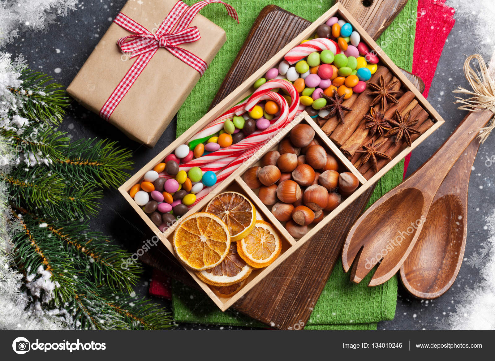 food decor in gift box — Stock Photo © karandaev #134010246