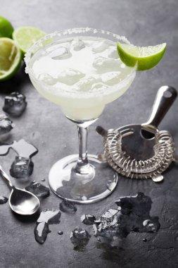 Margarita cocktail on table