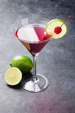 famous Cosmopolitan cocktail