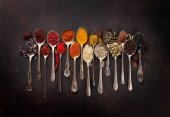 Fotografie Various spices spoons
