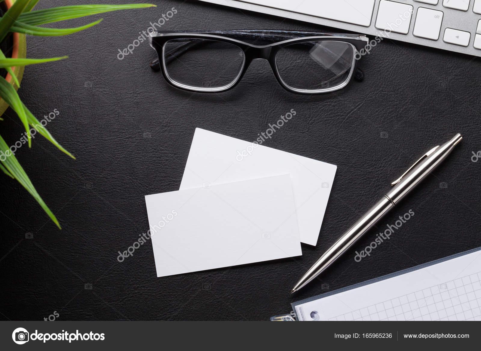 Blank business cards — Stock Photo © karandaev #165965236