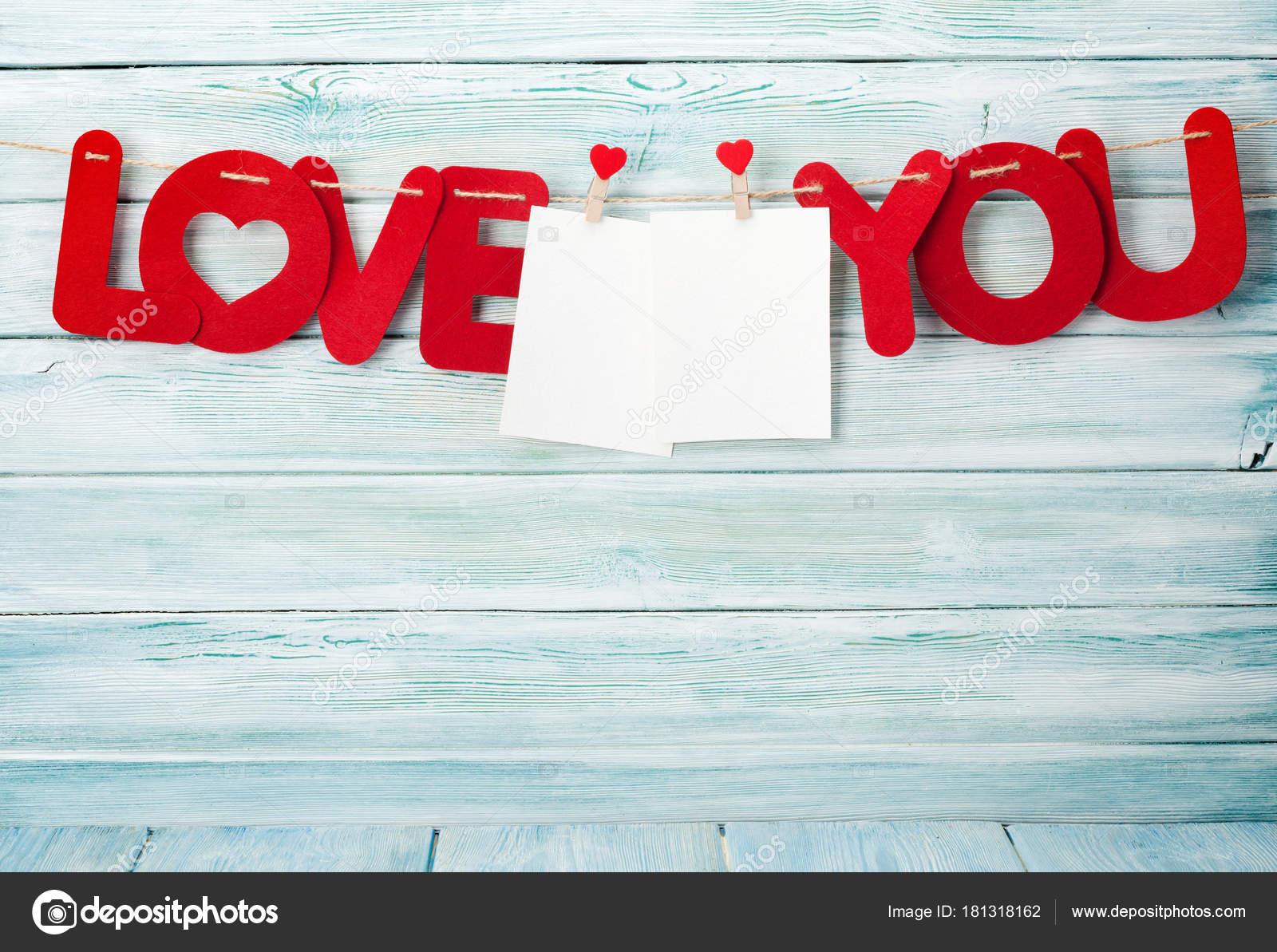 Valentinstag Grußkarte Mit Liebe Dich Worte Und Bilderrahmen Über ...