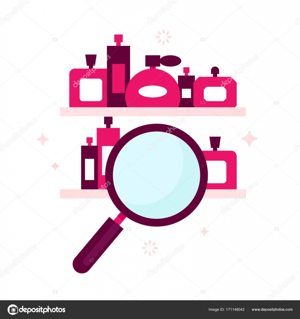 Search engine icon for perfume store, — Stock Vector