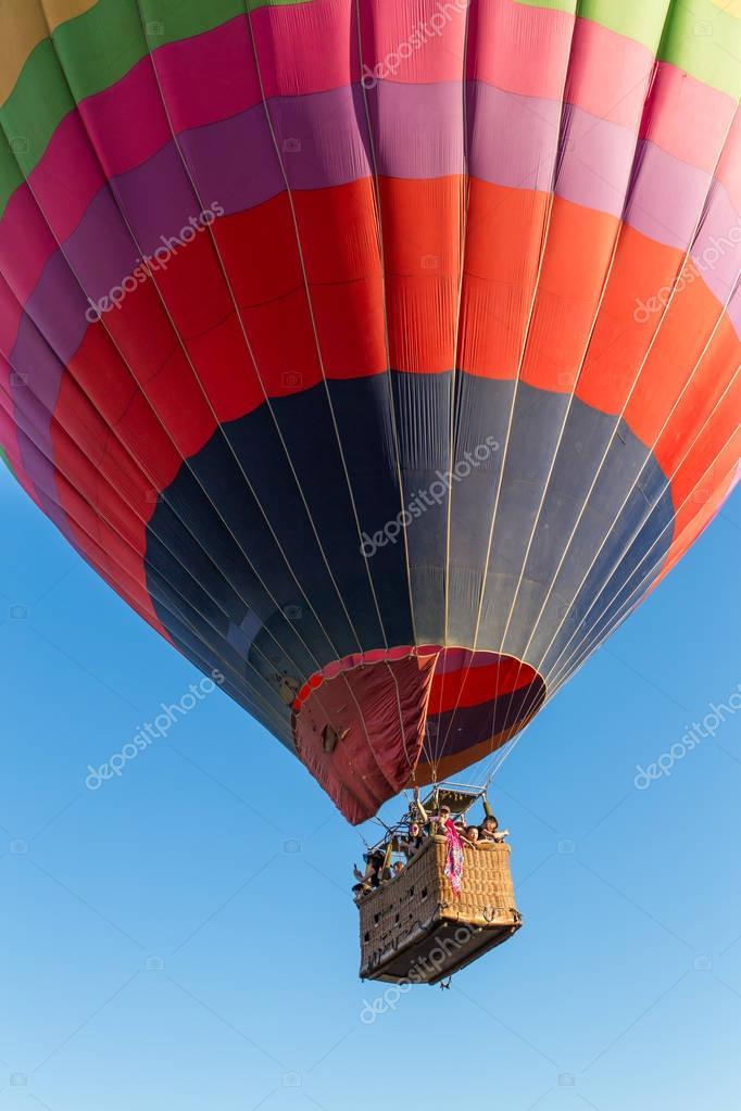 Hot air baloon in sky