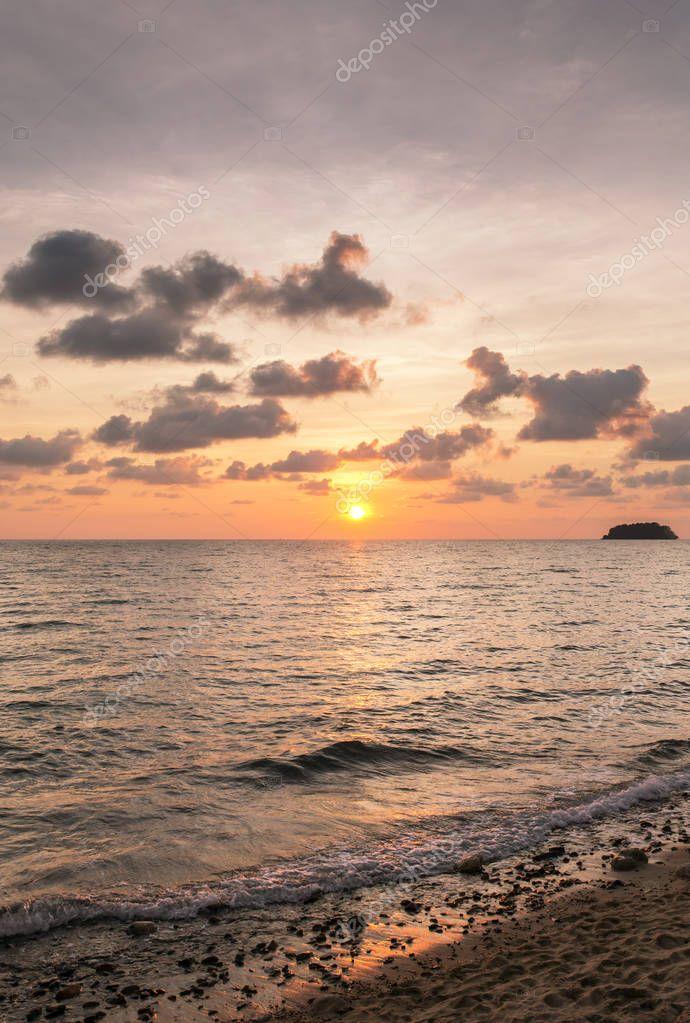 Beautiful sunset sky over the Andaman sea
